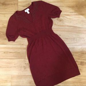 LOFT beaded sweater dress